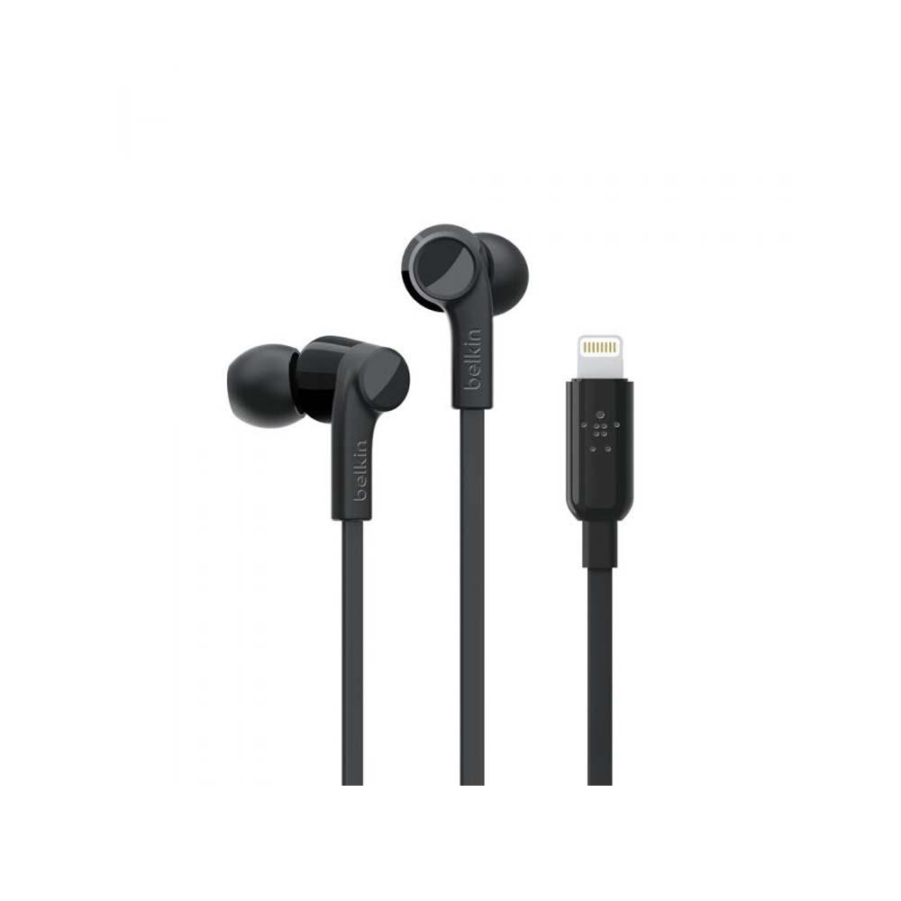 BELKIN – EARPHONES – LIGHTNING – IN – EAR (BLACK)